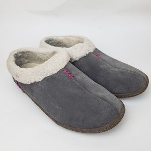 Sorel | Gray and White Slippers, size 8